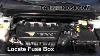 interior fuse box location 2011 2014 chrysler 200 2012 chrysler blown fuse check 2011 2014 chrysler 200