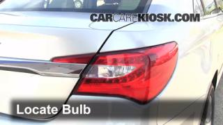 2012 Chrysler 200 LX 2.4L 4 Cyl. Sedan (4 Door) Lights Turn Signal - Rear (replace bulb)
