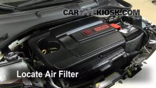 2012-2014 Fiat 500 Engine Air Filter Check
