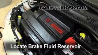2012-2014 Fiat 500 Brake Fluid Level Check