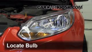 2012 Ford Focus SE 2.0L 4 Cyl. Sedan Lights Daytime Running Light (replace bulb)