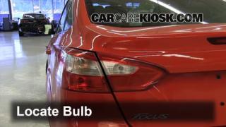 2012 Ford Focus SE 2.0L 4 Cyl. Sedan Lights Turn Signal - Rear (replace bulb)