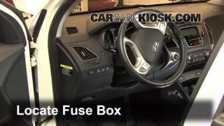 Interior Fuse Box Location 2010 2015 Hyundai Tucson