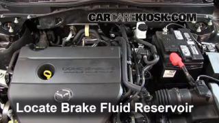 2009-2013 Mazda 6 Brake Fluid Level Check