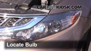 2012 Nissan Murano SL 3.5L V6 Lights Headlight (replace bulb)