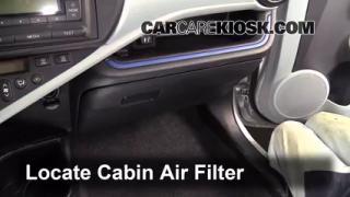 2012 Toyota Prius C 1.5L 4 Cyl. Filtro de aire (interior) Control