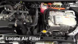 2012 Toyota Prius C 1.5L 4 Cyl. Filtro de aire (motor) Control