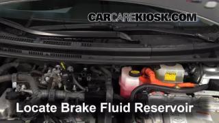 2012-2015 Toyota Prius C Brake Fluid Level Check