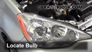 2012 Toyota Prius C 1.5L 4 Cyl. Lights Highbeam (replace bulb)