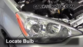 2012 Toyota Prius C 1.5L 4 Cyl. Luces Luz de estacionamiento (reemplazar foco)