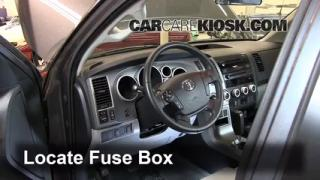 Interior Fuse Box Location: 2008-2014 Toyota Sequoia
