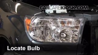 2012 Toyota Sequoia SR5 4.6L V8 Lights Highbeam (replace bulb)