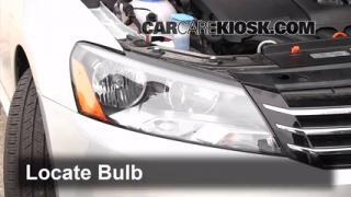 2012 Volkswagen Passat S 2.5L 5 Cyl. Sedan (4 Door) Lights Parking Light (replace bulb)