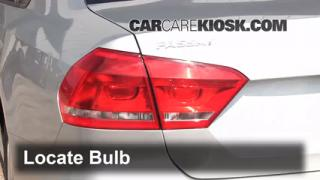 2012 Volkswagen Passat S 2.5L 5 Cyl. Sedan (4 Door) Lights Tail Light (replace bulb)