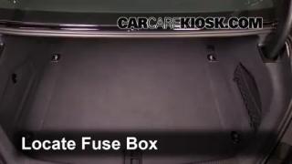 interior fuse box location 2012 2016 audi a6 quattro. Black Bedroom Furniture Sets. Home Design Ideas