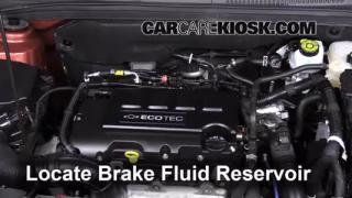 2013 Chevrolet Cruze LT 1.4L 4 Cyl. Turbo Brake Fluid Check Fluid Level