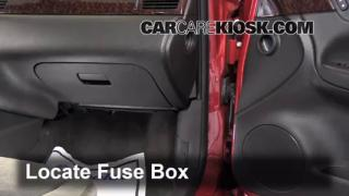 interior fuse box location chevrolet impala  2006 2016 chevrolet impala interior fuse check