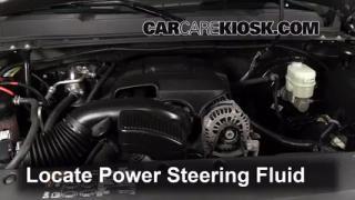 2013 Chevrolet Silverado 1500 LT 5.3L V8 FlexFuel Crew Cab Pickup Power Steering Fluid Check Fluid Level