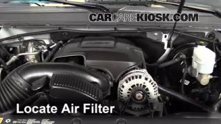 2013 Chevrolet Tahoe LT 5.3L V8 FlexFuel Air Filter (Engine) Replace