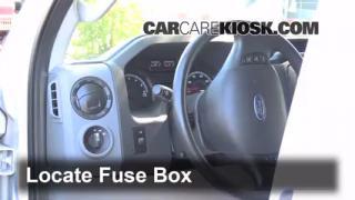 interior fuse box location 2008 2016 ford e 350 super. Black Bedroom Furniture Sets. Home Design Ideas