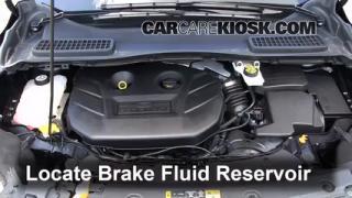 Add Brake Fluid: 2013-2014 Ford Escape