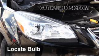 2013 Ford Escape SEL 2.0L 4 Cyl. Turbo Lights Daytime Running Light (replace bulb)