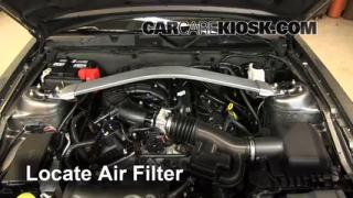 2010-2014 Ford Mustang Engine Air Filter Check