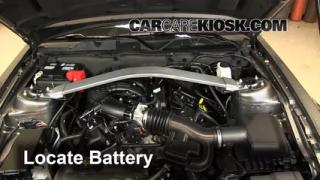 Battery Replacement: 2010-2014 Ford Mustang