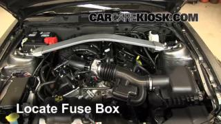 interior fuse box location 2010 2014 ford mustang 2013 ford blown fuse check 2010 2014 ford mustang
