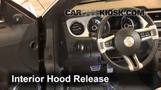 Open Hood How To 2010-2014 Ford Mustang