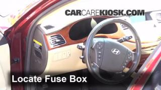 Interior Fuse Box Location: 2009-2014 Hyundai Genesis