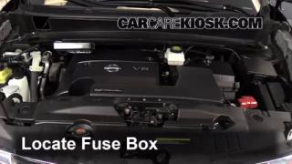 interior fuse box location nissan pathfinder  blown fuse check 2013 2016 nissan pathfinder