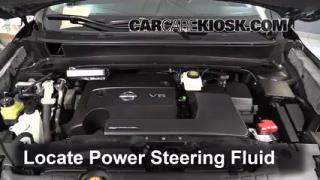 2013 Nissan Pathfinder SV 3.5L V6 Power Steering Fluid Check Fluid Level