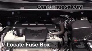 interior fuse box location 2013 2016 toyota rav4 2013 toyota replace a fuse 2013 2016 toyota rav4