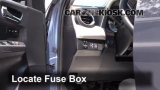 replace a fuse 2013 2016 toyota rav4 2013 toyota rav4 limited interior fuse box location 2013 2016 toyota rav4