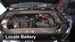 2014 Ford Fusion SE 2.5L 4 Cyl. Battery Clean Battery & Terminals