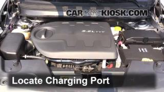 2014 Jeep Cherokee Latitude 3.2L V6 Air Conditioner Recharge Freon