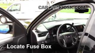 2015 GMC Yukon XL SLT 5.3L V8 FlexFuel%2FFuse Interior Part 1 interior fuse box location 2014 2016 gmc yukon xl 2015 gmc 2015 tahoe fuse box location at reclaimingppi.co