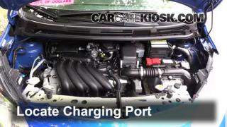 2015 Nissan Versa Note S 1.6L 4 Cyl. Air Conditioner Recharge Freon