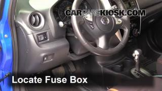 2015 Nissan Versa Note S 1.6L 4 Cyl.%2FFuse Interior Part 1 how to add refrigerant to a 2014 2016 nissan versa note 2015 2014 nissan versa fuse box location at crackthecode.co